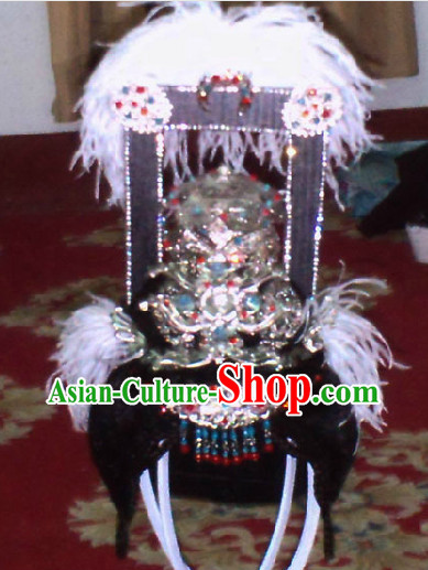 Ancient Chinese Beauty Wang Zhao Jun Wig and Hair Clasps