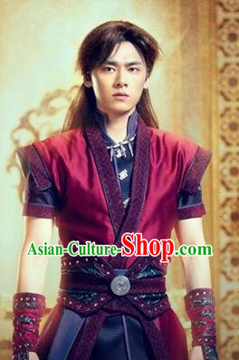 Gu Jian Qi Tan Lengend of the Ancient Sword TV Drama Leading Man Costumes Complete Set