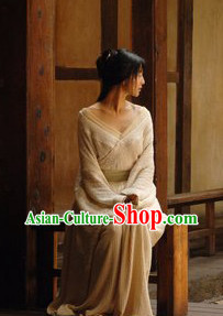 Ancient Chinese White Hanfu Clothes for Women