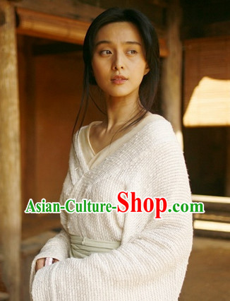 Chinese Classical White Han Dress Complete Set