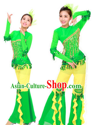 Chinese National Fan Dance Team Suit