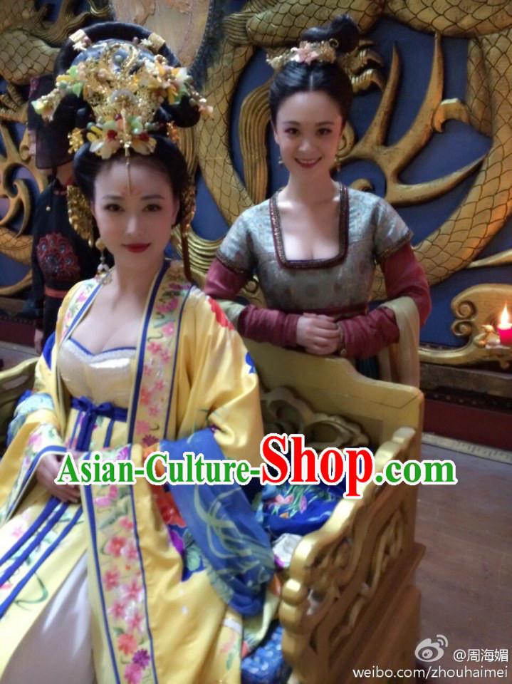 Chinese Royal Empress Costumes and Headdress