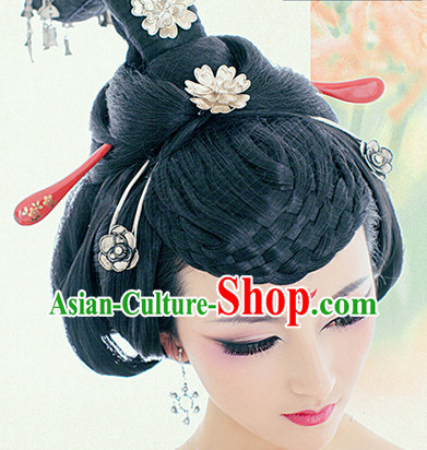 Traditional Chinese Empress Wig and Hair Jewelry