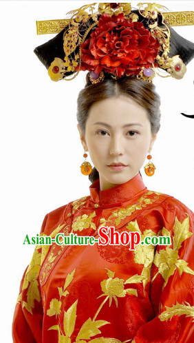 Bu Bu Jing Xin Ruo Lan Wedding Dress and Headdress Complete Set