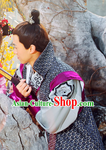 Traditional Chinese Swordsman Costumes Complete Set