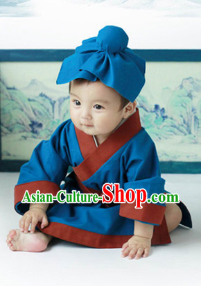 Traditional Chinese Hanfu Clothes for Infants