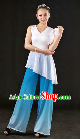 Blue and White Stage Performance Han Dance Costumes