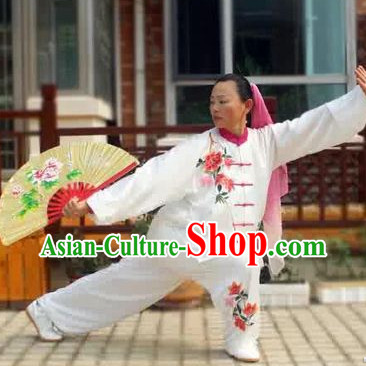 Red Flower Kung Fu Tai Chi Silk Uniform