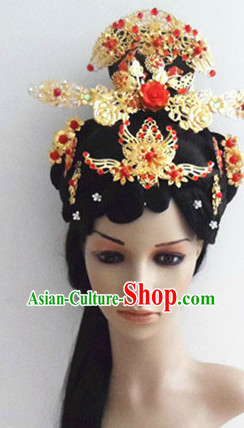Ancient Chinese Beauty Hair Accessories and Long Wig