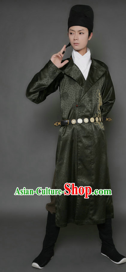 Golden Age in China's History Tang Dynasty Hanfu and Hat Complete Set for Men or Women