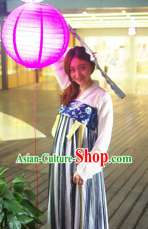 Traditional Tang Dynasty Long Gown Clothes Complete Set for Women
