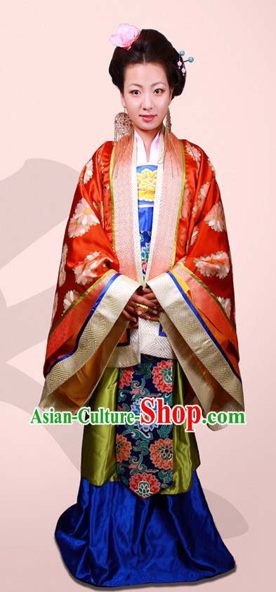 Handmade Tang Dynasty Garment Clothes and Hair Accessories for Women