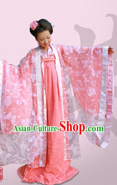 Tang Dynasty Hanfu Da Xiu Shan Ceremonial Garment and Hair Accessories Complete Set for Women