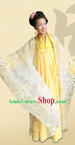 Tang Dynasty Hanfu Da Xiu Shan Ceremonial Attire and Hair Accessories Complete Set for Women