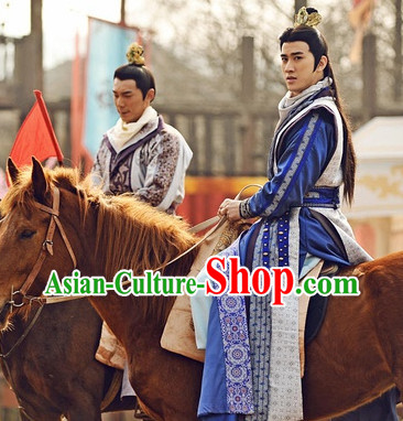 Chinese Tang Dynasty Prince Oriental Clothing and Coronet