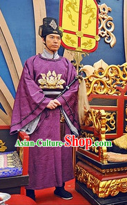 Chinese Tang Dynasty Official Clothes online and Hat Complete Set