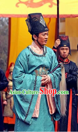 Asian Tang Court Dresses and Hat Complete Set