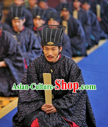 Asian Tang Official Clothes and Hat Complete Set