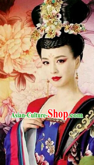 Handmade Chinese Empress Wig and Hair Accessories