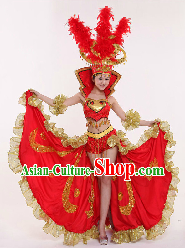 Latin Dance Costumes and Hat