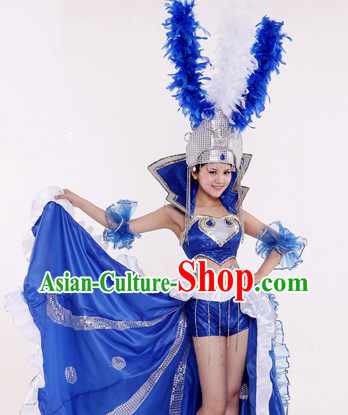Latin Dance Costume and Hat