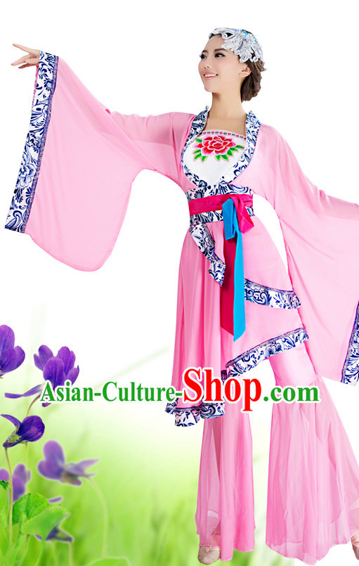 China Classical Dance Suit and Headwear for Women