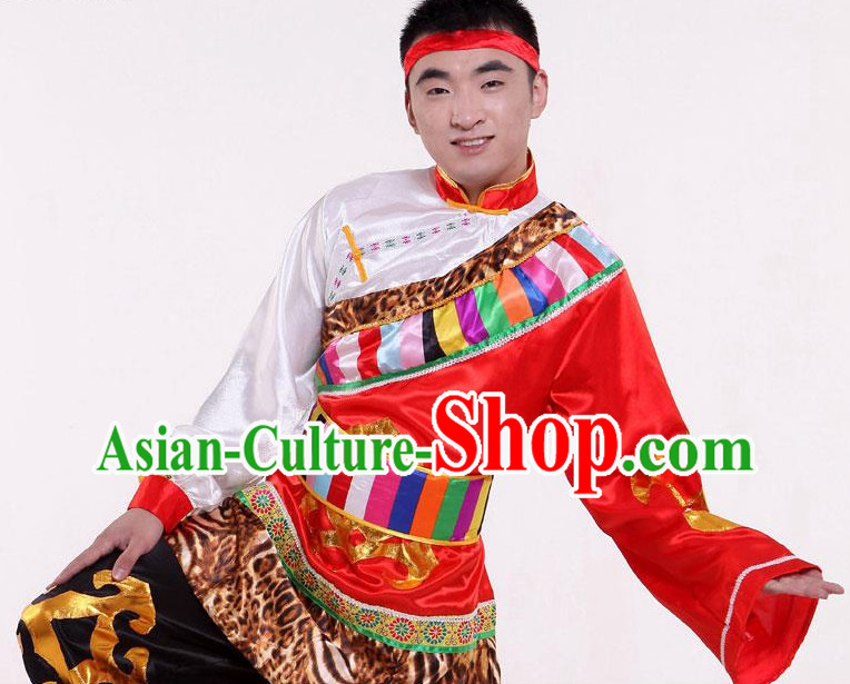 China Tibetan Dancewear and Headwear for Men
