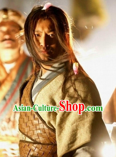 China Yang Guo Swordman Suit and Long Wig for Men