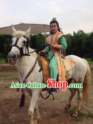 Ancient Chinese Prince Clothing and Crown Complete Set