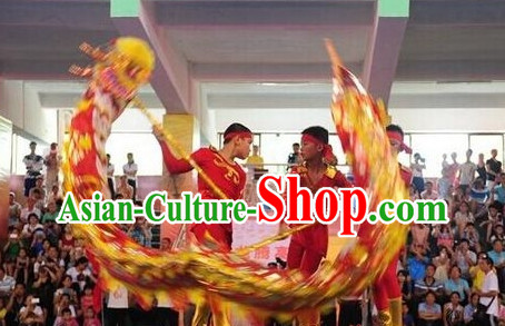 BRAND NEW Red Dragon Dance Equipments Complete Set for Four People