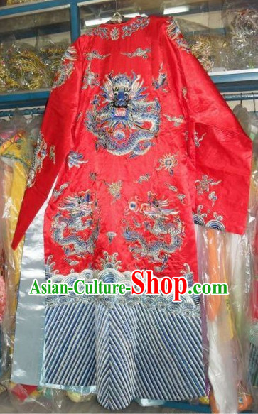 Professional Peking Opera Dragon Embroidery Robes