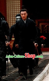 Black Chinese Traditional Hanfu Clothing for Men