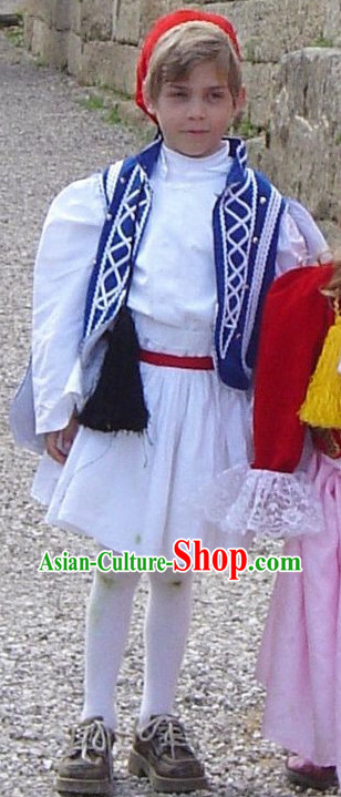 Traditional Greek Costume Tsolias Complete Set for Kids