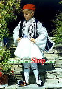 Traditional Greek Tsolias Costume for Boys