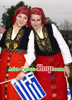 Greek Women Costumes Complete Set