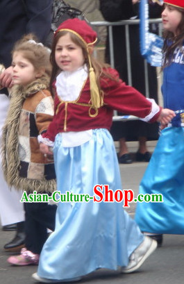 Traditional Greek AMALIA Costume for Kids