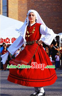Traditional Greek Dance Costume for Women
