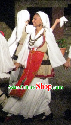 Traditional Greek Dance Costumes for Women