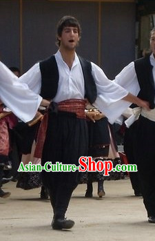 Traditional Boys Greek Costumes Complete Set