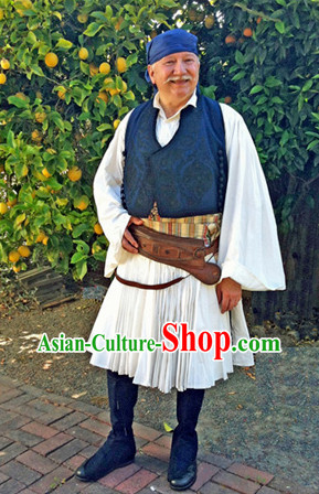 Old Mens Greek Dress Complete Set