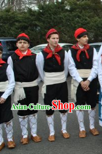 Greek Folk Male Costumes Complete Set