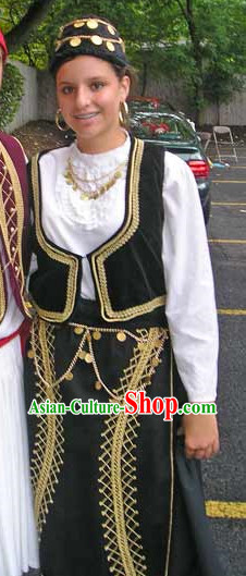 Womens Greek National Costume Complete Set