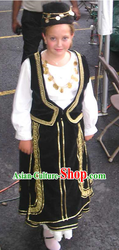 Girls Greek Costumes Complete Set