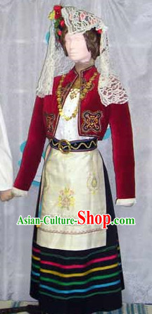Traditional Womens Greek Clothing Complete Set