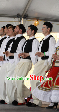 Traditional Mens Greek Dance Costumes Complete Set