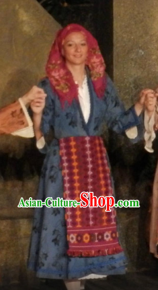 Traditional Greek Costumes Complete Set