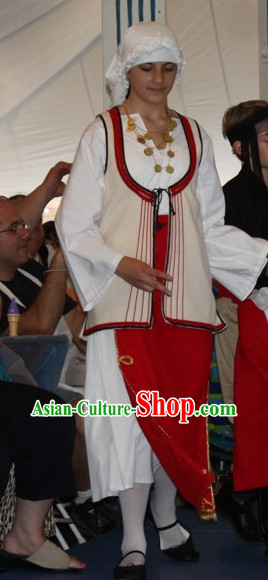 Girls Greek Dance Costumes Complete Set