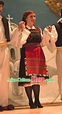 Woman Greek Dance Dress Complete Set