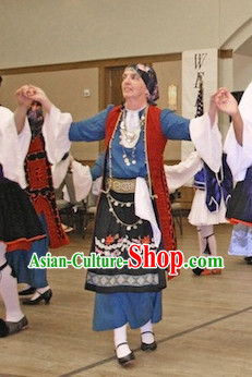 Female Greek Dance Costumes Complete Set