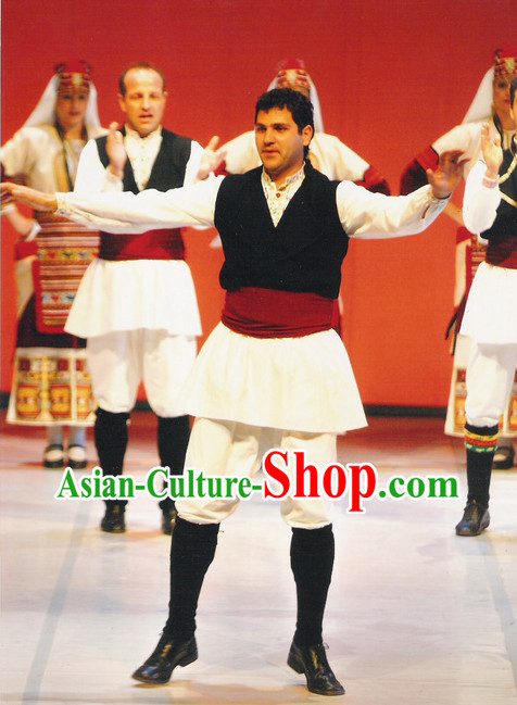 Male Folk Greek Dance Costumes Complete Set